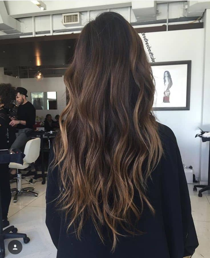 natural Brown Balayage hairstyle for women