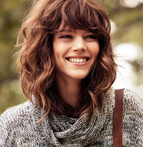 curly hair long fringe short curly hair