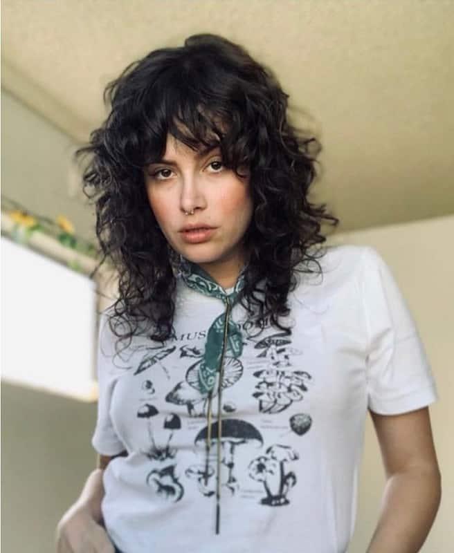 Curly shag rockn roll hair cut
