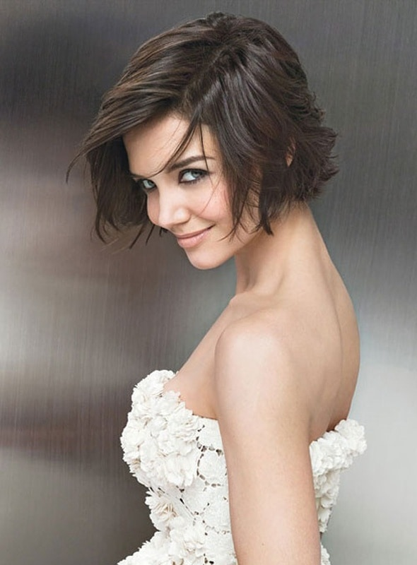5 terrific katie holmes short hairstyles latest celeb trend katie holmes short bob with a side part hair winobraniefo Image collections