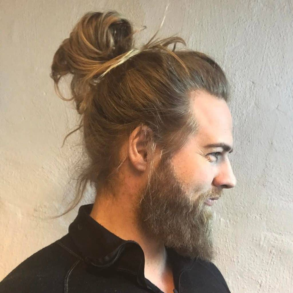 Image result for MEN WITH Twist in Bun