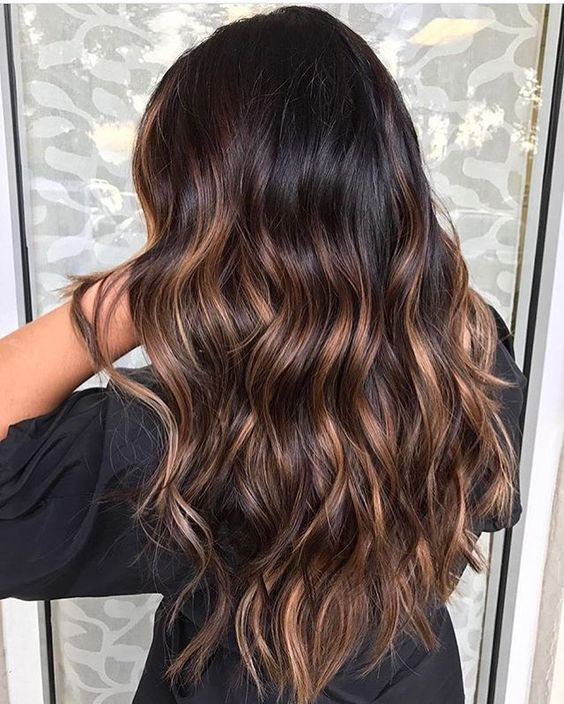 Milk Chocolate Balayage hair color for young girl