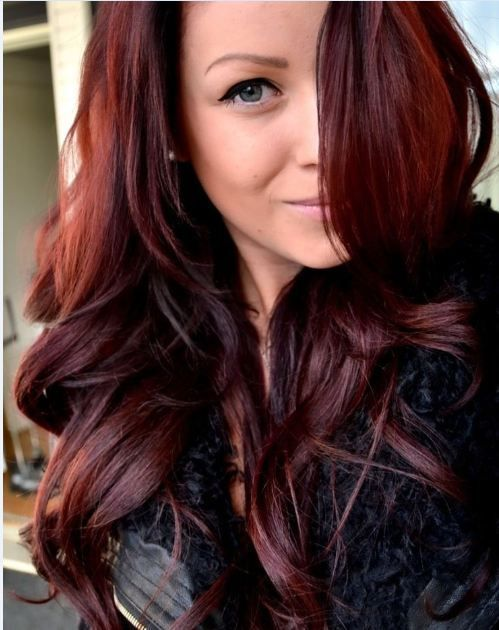 Mahogany red auburn hairstyle for girl