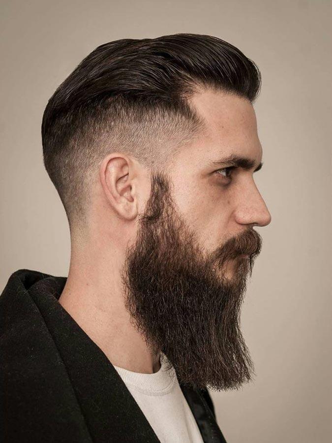 Medium drop fade hairstyle