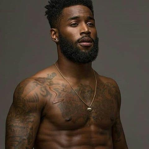 black men long beard style