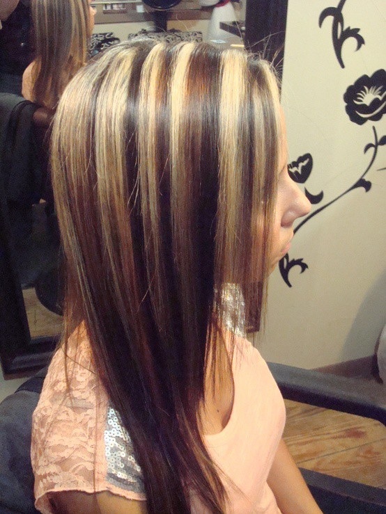 black-hair-with-blonde-and-caramel-highlights-1