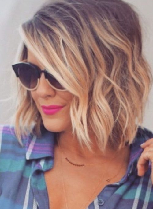 Short and Sweet Blonde Balayage hairstyle