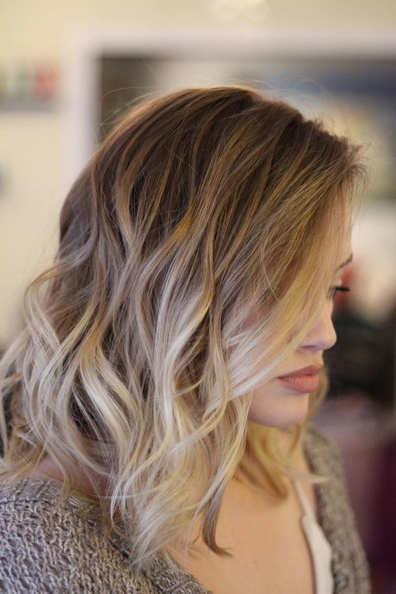 Blonde Balayage on Short, Brown Hair