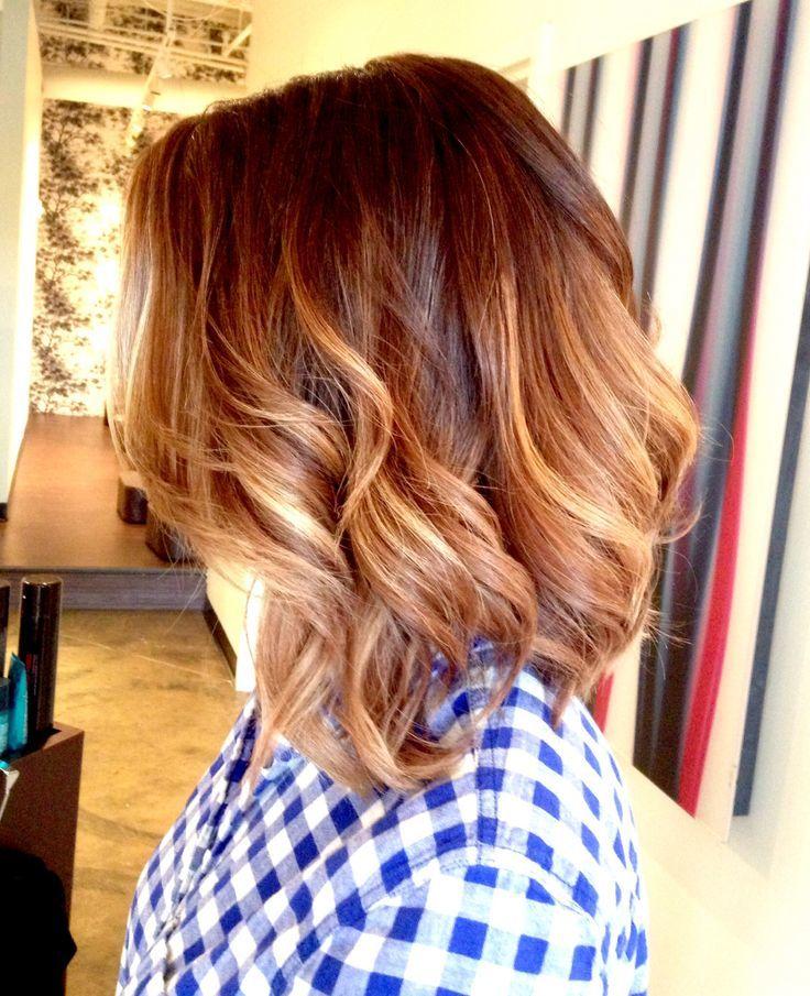 women nice Blonde OmbreBalayageon Short Hair