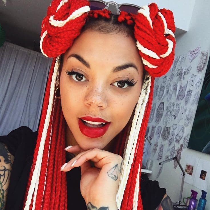 20 Epic Blonde Red Amp Burgundy Box Braids To Try