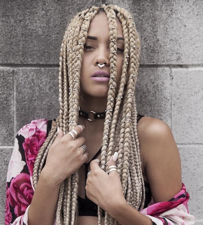 27 Epic Blonde Red Burgundy Box Braids To Try Hairstylecamp
