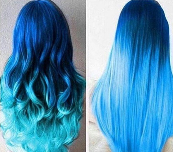 30 Incredible Blue Ombre Hair Colors
