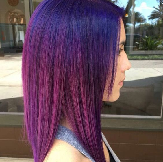 38 Beautiful Blue and Purple Hair Color Ideas – HairstyleCamp