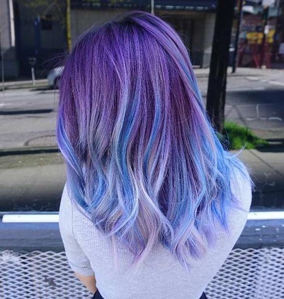 60 Beautiful Blue and Purple Hair Color Ideas – HairstyleCamp