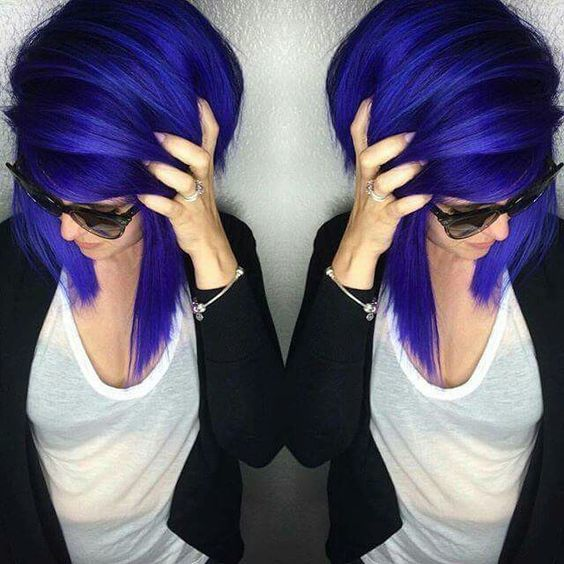 Dark Shades Blue And Purple Hair Color Ideas 3