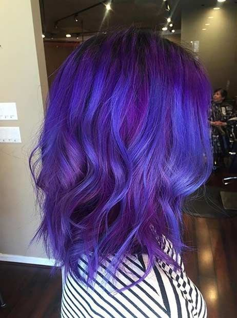 10 beautiful blue and purple hair color ideas hairstylecamp blue and purple hair color ideas 5 pmusecretfo Images