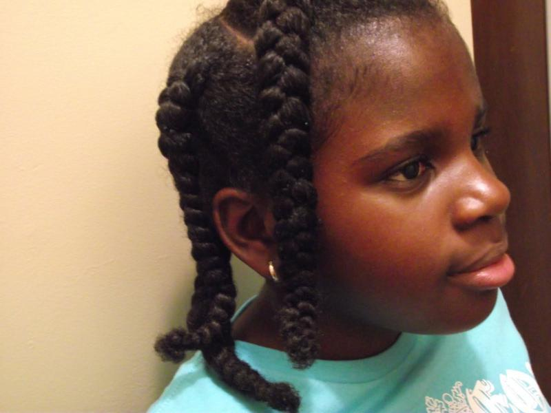Thick and Chunky hair braiding styles for Kids