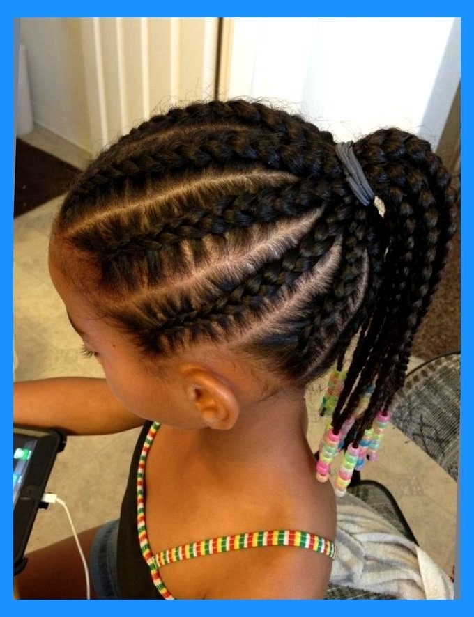 Ponytail with Neat Cornrows for baby girl