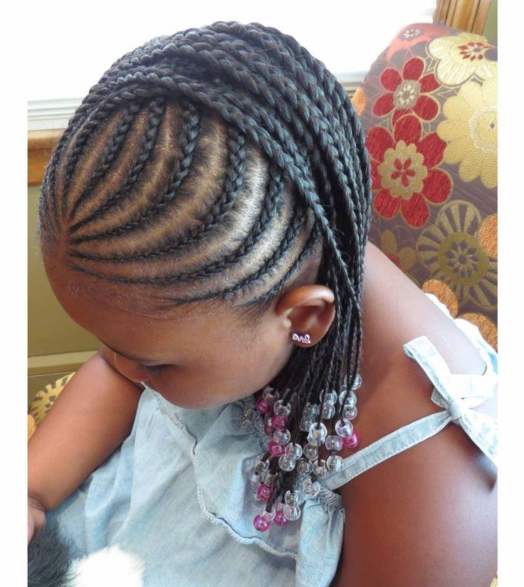 Pink and Silver Braids for Kids