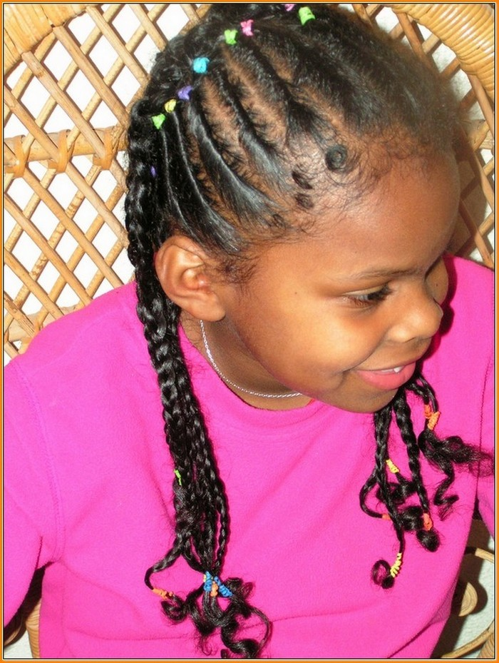 Curly Braided Hairstyle For Kids