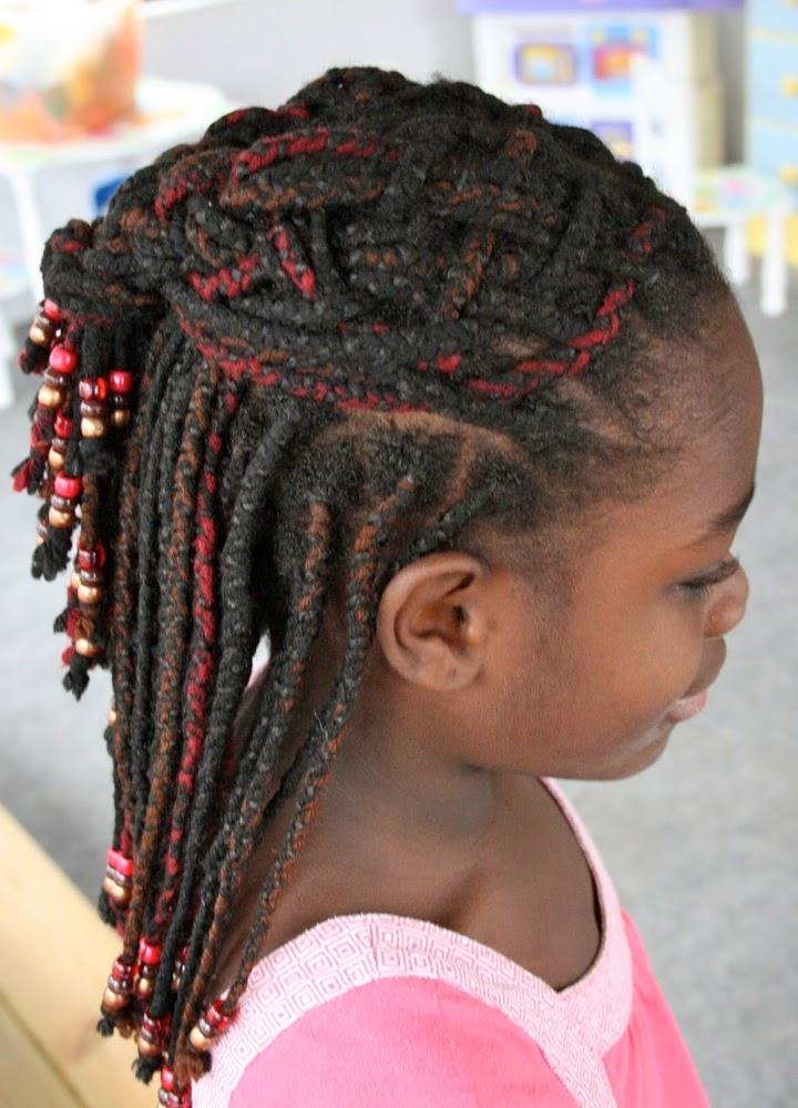 Strange 40 Fun Amp Funky Braided Hairstyles For Kids Hairstylecamp Short Hairstyles For Black Women Fulllsitofus