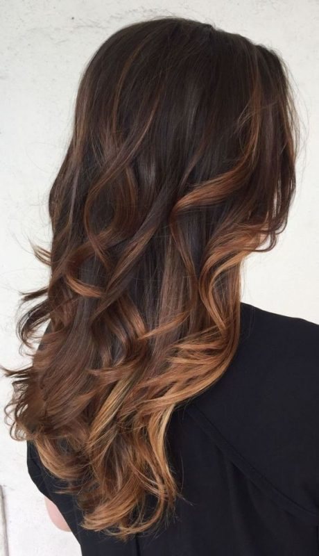 Dark chocolate Brown Balayage Haircut you love