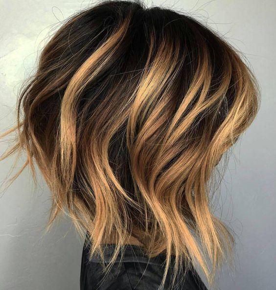 favorite Brunette Balayage on Short Hair for women