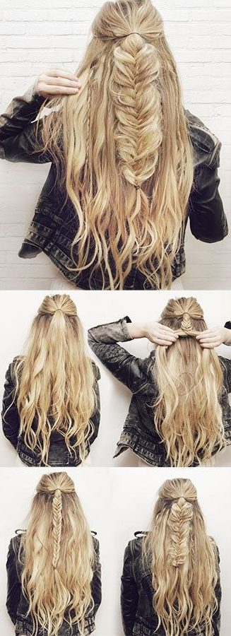 With Central Ponytail Even If You Don T Have Alling Hair Pick Some Hairs From The Both Sides And Tie A Knot Weaves Make Braids These