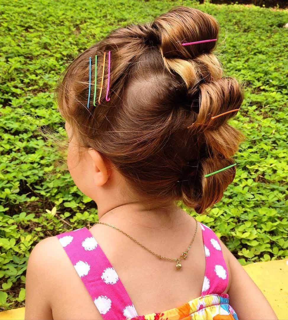 35 Cute Little Girl Updos Thatll Steal The Show Hairstylecamp