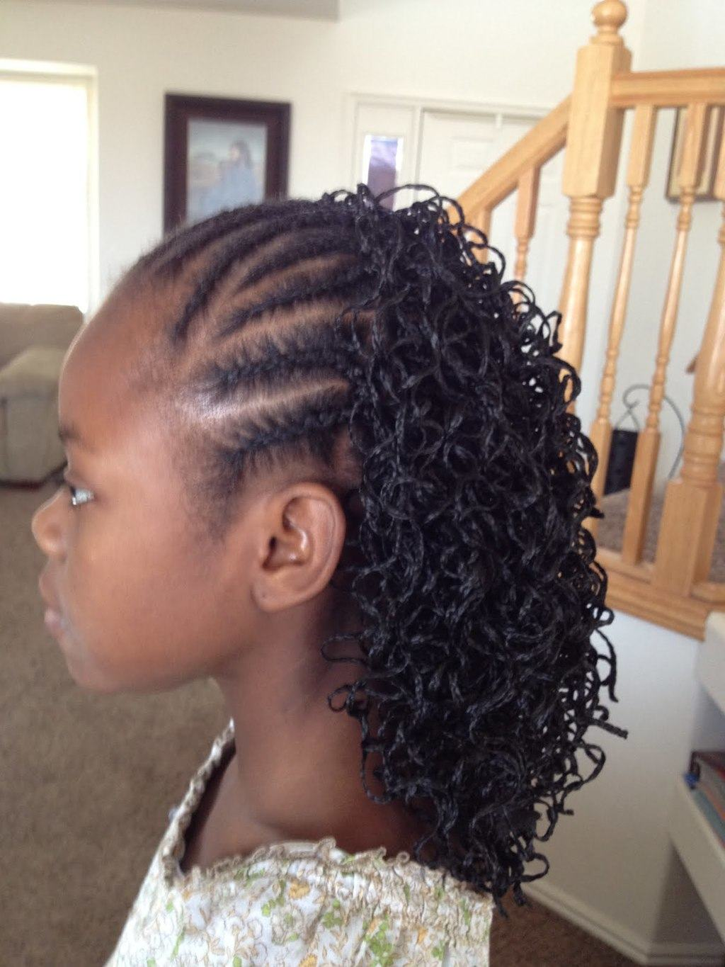 Cornrow Braids twists hairstyle for little girl