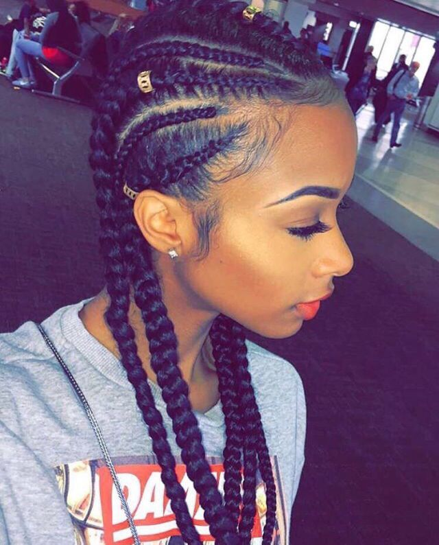 Surprising 45 Cornrow Braids To Twist And Turn Your World Hairstylecamp Hairstyle Inspiration Daily Dogsangcom