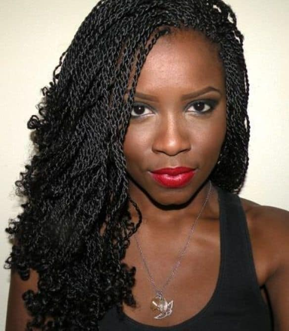 Curled Ends hairstyle for black women