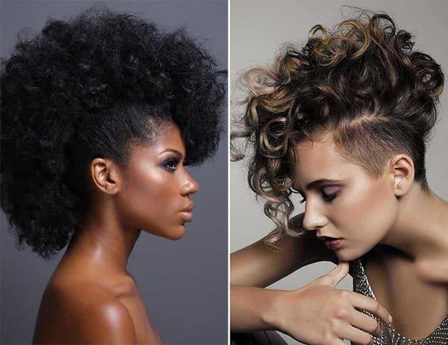 Curly Mohawk Styles For Women