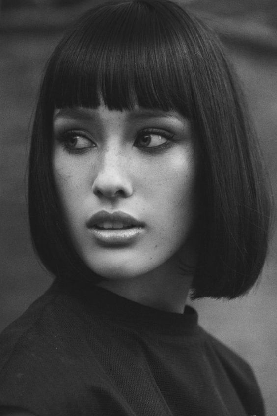 young girl Cut with Bangs hair