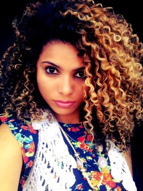 12 Stunningly Wild Dark And Curly Ombre Hair Colors