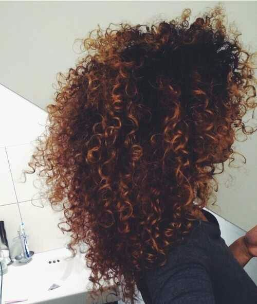 Dark and Wild curly ombre hairstyle for girl