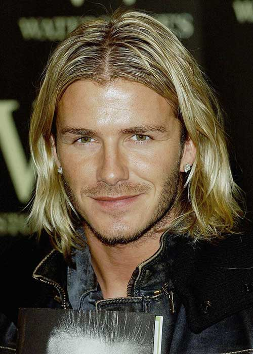 David Beckhams Long Hair