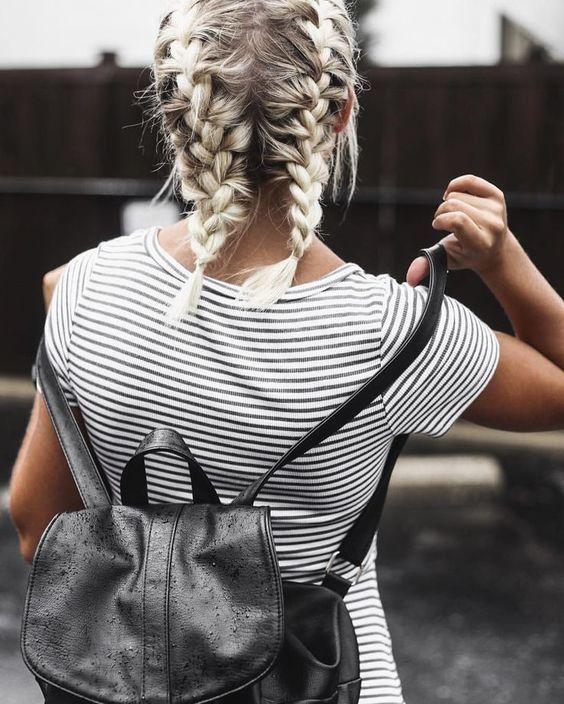 women favorite Double Dutch hairstyle