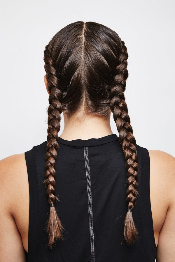 Dutch French Braid style for women