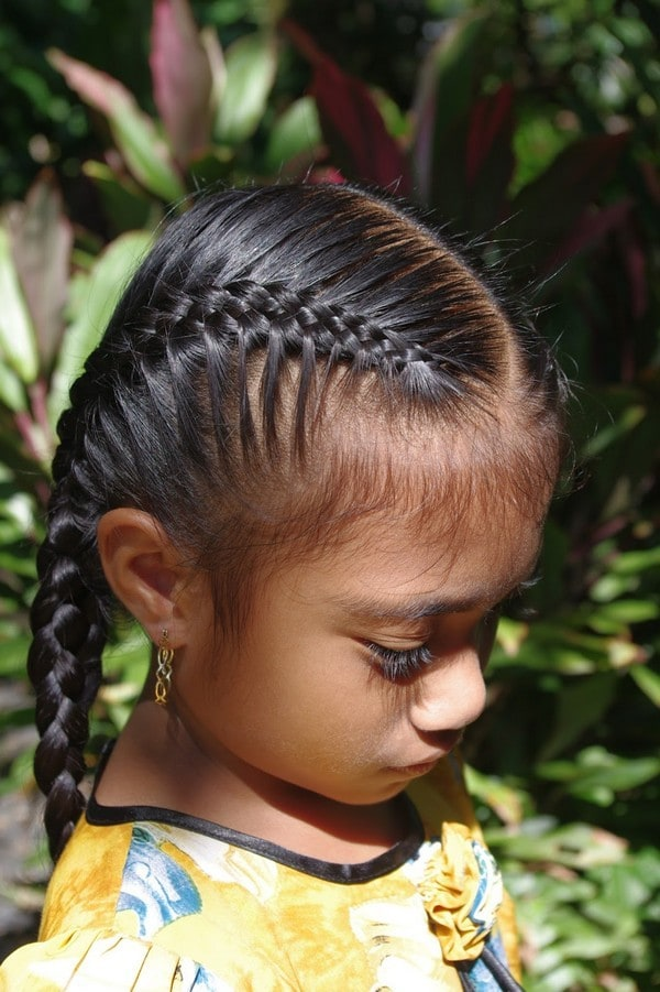 little girl Dutch French Braid hairStyle