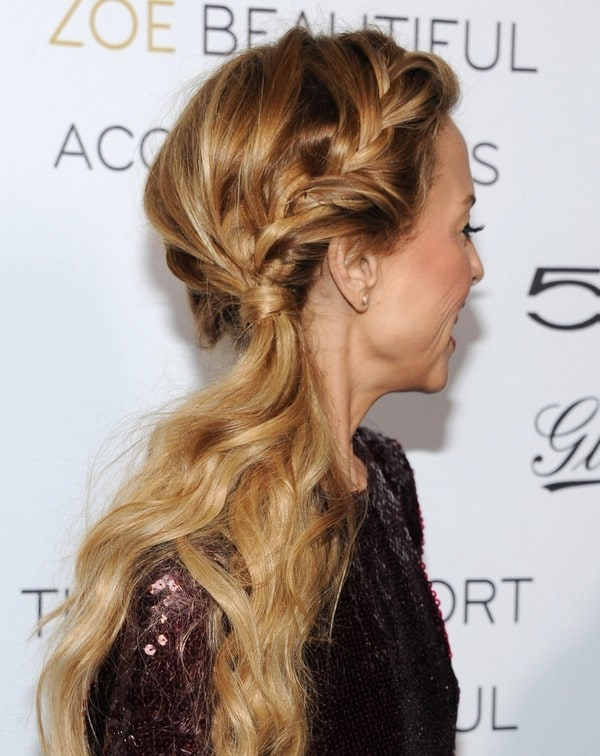 Dutch Side French Braid hairstyle