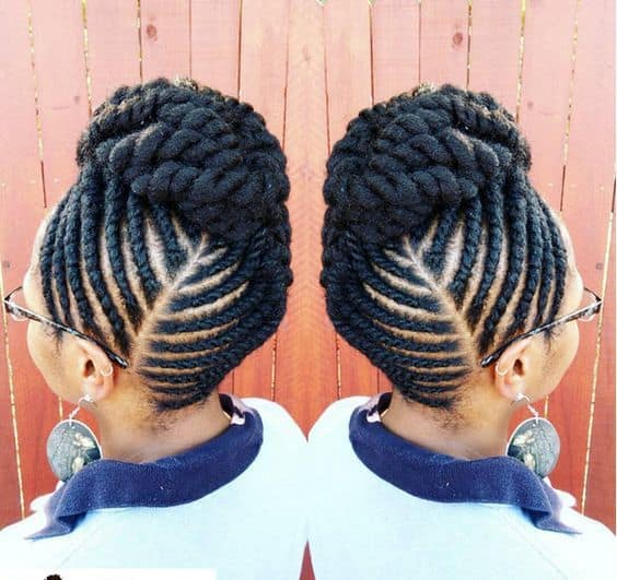 Elegant Updo hairstyle for black girl