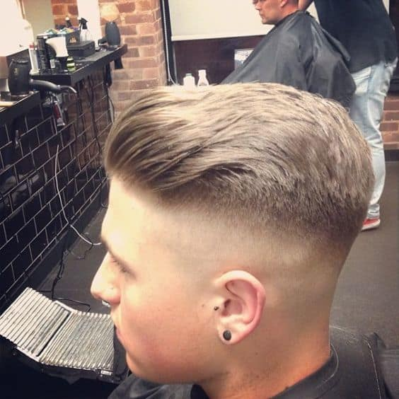 Exquisite front sweep army haircut you love