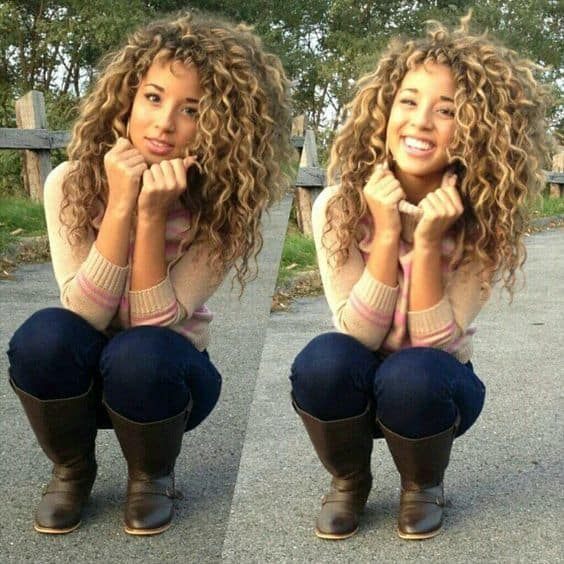 side bangs with curly hair for teen girls