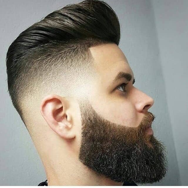 short faded quiff hairstyle for men