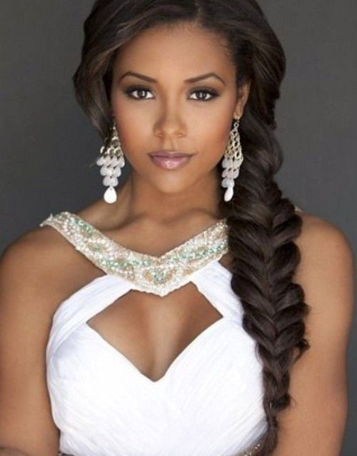 Natural Fishtail Braid hairstyle for black women