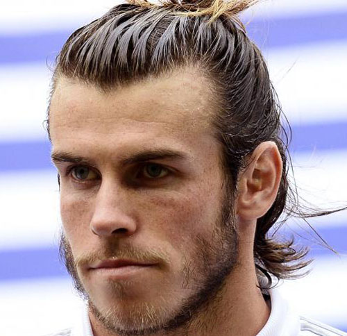 Most Stylish Gareth Bale Haircuts To Copy HairstyleCamp - Gareth bale hairstyle man bun