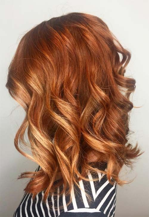 Highlights With Ginger Hair Color For