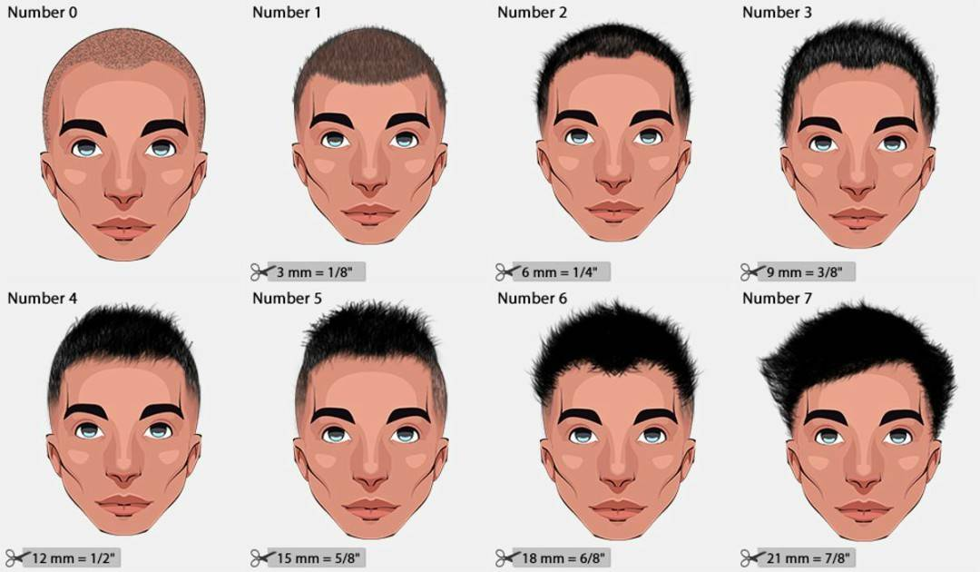 Different Haircut Numbers Hair Clipper Sizes 2019 Hairstylecamp