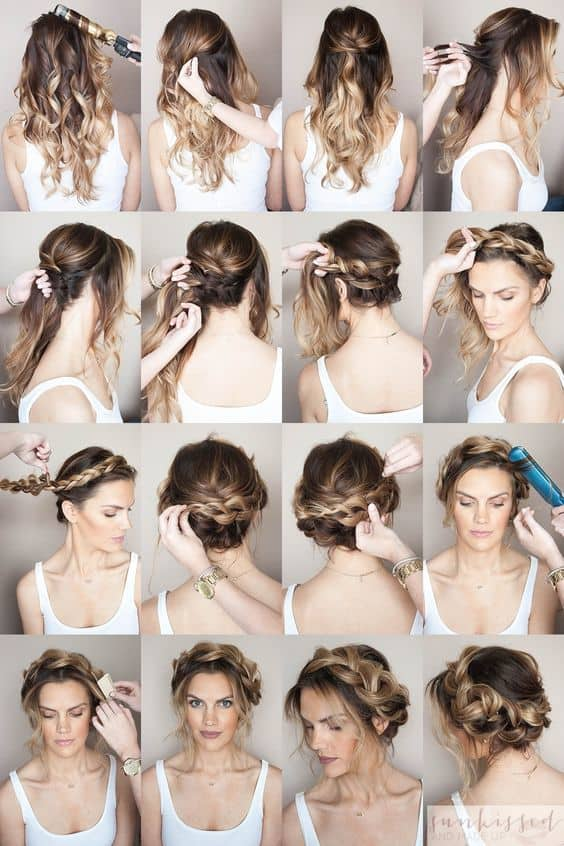 crown braid with weave
